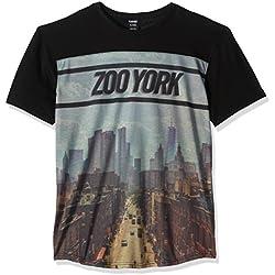 Zoo York Men's Centralized Crew Short Sleeve, Black, Large