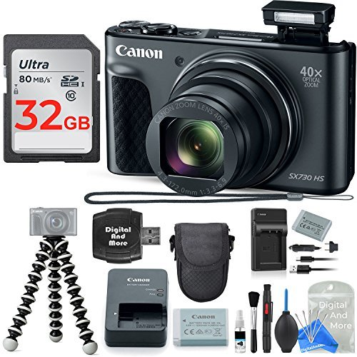 Canon PowerShot SX730 HS Digital Camera with 32GB Deluxe Dig