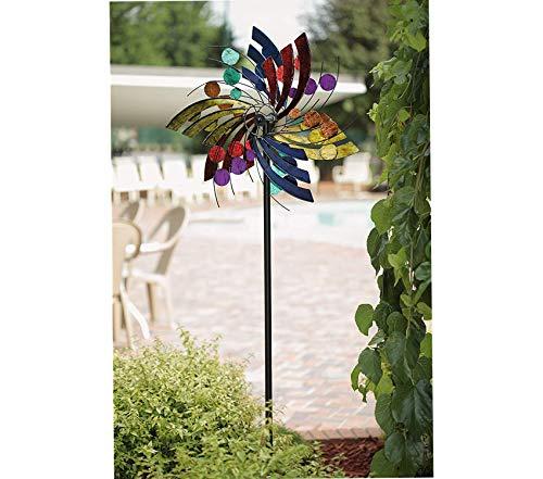 Аmеricаn Furniturе Clаssics Outdoor Garden Backyard Décor Polka Dot Plume Wind Spinner