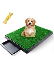 AZSSMUK Dog Pee Potty Pad,Grass Large Dog Litter Box Toilet Artificial Grass Turf for Dogs,Pet Potty Training Pee Portable Potty Trainer Full System (Drawer Grass+Toy)