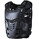 TINTON LIFE Knight Equipment Motocross Armor Motorcycle Body Armor Adult Chest Protector Vest Protector (Black)