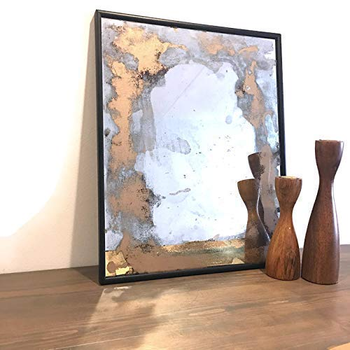 Antiqued Glass Accent - Handmade Antiqued Glass Decorative Wall