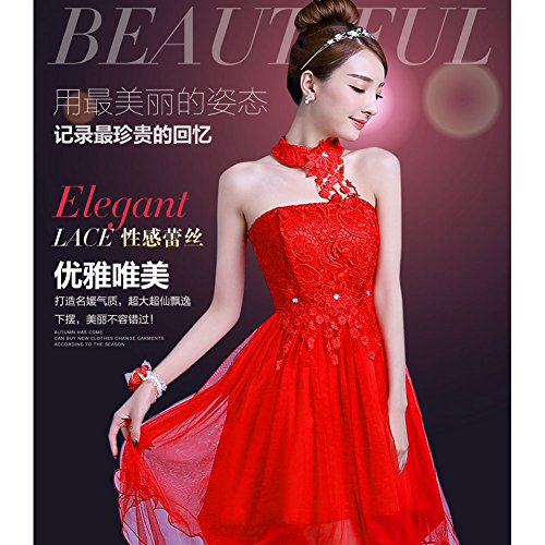 Party Red Dress BLESSI Cocktail Wedding Bridesmaid 4 Evening Colors Dress Lady's Short Short wrYIxEq7Y