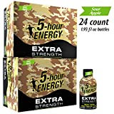 5-hour ENERGY Shot, Extra Strength Sour Apple Flavor, 1.93 oz. 24 pack