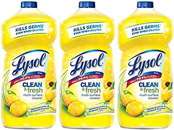 3-Pack Lysol Clean & Fresh Sparkling Lemon and Sunflower Essence