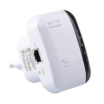 LEDMOMO Amplificador de rango WIFI Mini amplificador de señal inalámbrico 2.4GHz con modo de enrutador