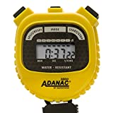 MARATHON Adanac 3000 Digital Stopwatch Timer with Extra Large Display and Buttons, Water Resistant- Yellow