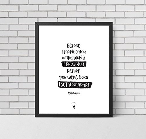Before I formed you in the womb I knew you, before you were born I set you apart | Jeremiah 1:5 - Artisanal Giclée Art Print [unframed]