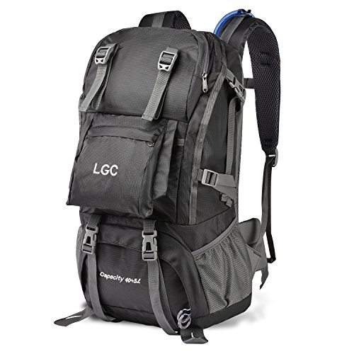LGC Products Travel Backpack,40L Waterproof Hiking Backpack Men & Women,Camping Backpack Headphone Interface & Rain Cover Hiking,Traveling & Camping by LGC Products
