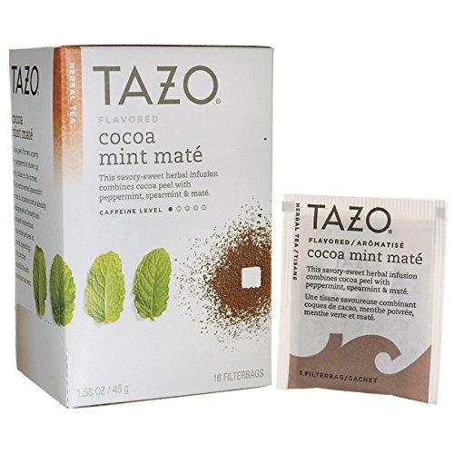 Tazo Cocoa Mint Mate Tea, 16 Count ()