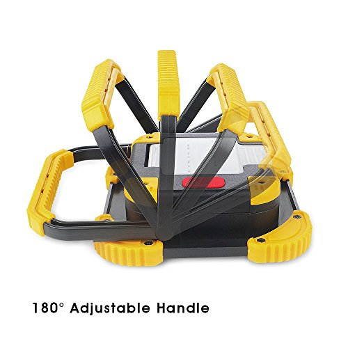 Portable LED Work Light with Stand, Cordless 1100 Lumens Work Lights for Shop Site Truck Garage by Hisonde (Image #3)