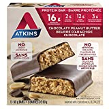 Atkins Protein Bars, Chocolate Peanut Butter, 16g Protein, 2g Sugar, 12g Fiber, 5 Count
