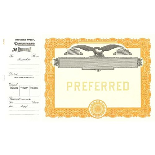 Goes 513 Preferred Stock Certificate - Pack of (Company Stock Certificate)