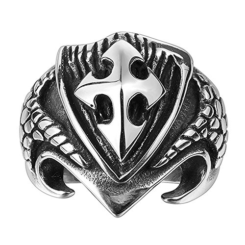 efloral-316l-stainless-steel-skull-ring-personalized-cross-eagle-claw-ring