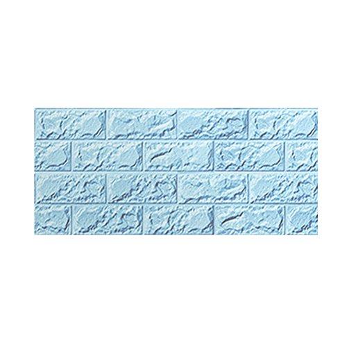 - WINOMO 3D Stick Wallpaper Wall Panels Peel for Bedroom Living Room Background(Blue)