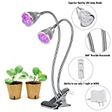 [TOCC 2018] Dual Head LED Grow Light 10W LED Grow Lamp W 360 Adjustable Gooseneck LED Grow Lights for Indoor Plants, Plant Growing, Hydroponic Garden, Greenhouses, Gardening, Office