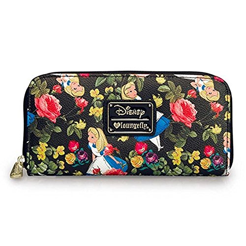 Loungefly Disney Alice In Wonderland - Cartera con diseño de flores: Amazon.es: Ropa y accesorios
