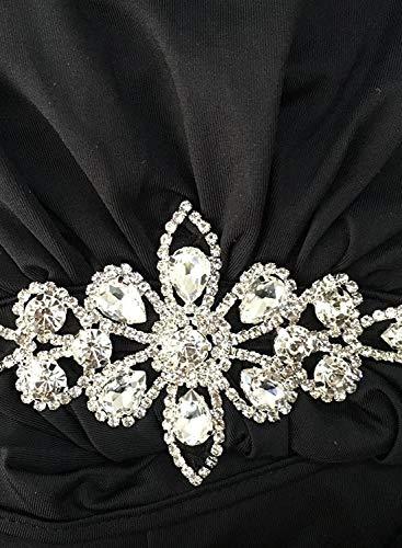 Dress Boho Waist Backless Halter Decor Women's Maxi Black Party Gown Wedding Hollow Dress Beauty Evening Out YnXUwxx