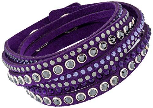 Swarovski Slake 5100098 Purple Alcantara with Mixed Crystals