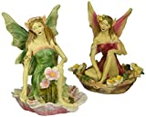Design Toscano Fairy of Acorn Hollow Statue Set of Red and Green, Multicolored Review