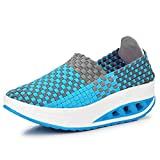 York Zhu Woman Weave Platform Comfortable Shoes Fashion Outdoor Breathable Couple Shoes