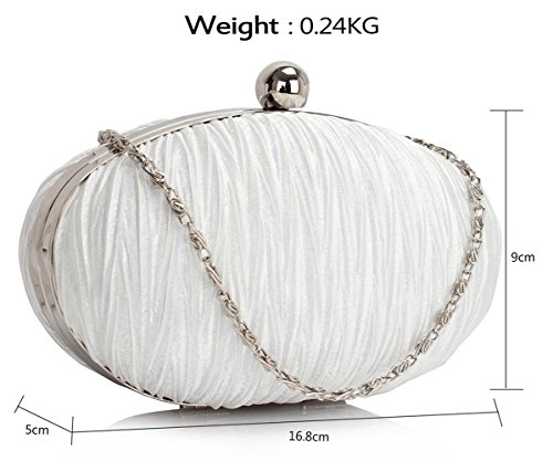 Bags Clutch Hard Fashion Crystal Body Rouched Wedding Satin Bag Designer Handbag CWE0092 CWE00315 Quality Evening Ladies Women's Ivory Cross CWE00315 Case CWE0093 O0f5nq