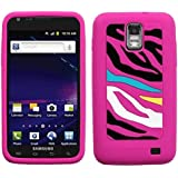 MYBAT SAMI727CASKPT006 Pastel Zebra Protective Case for Samsung Galaxy S2 Skyrocket i727 - 1 Pack - Retail Packaging - Pink