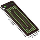 """HealthyLine Far Infrared Heating Mat 72""""x24"""" Natural Jade & Tourmaline, Heat Therapy  Physical Therapy Heated Negative Ions (Light & Firm) Relieves Sore Muscles, Joints, Arthritis"""