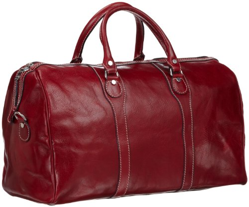 Red Leather Duffle Bag - 4