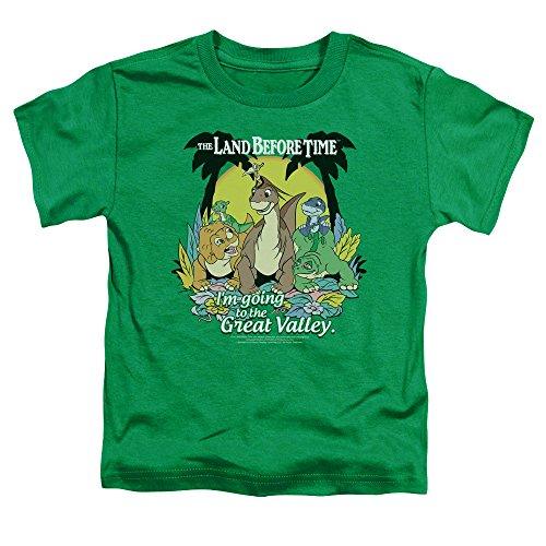 The Land Before Time Great Valley Little Boys Shirt Kelly Green MD - Land Time
