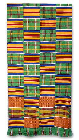 NOVICA Multicolor 100% Rayon Kente Cloth Scarf, 'African Radiance' by NOVICA