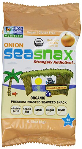 SeaSnax Grab and Go Roasted Seaweed Snack, Toasty Onion, 0.18-Ounce (Pack of (0.18 Ounce Net)