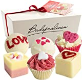 BRUBAKER Cosmetics 6 Handmade 'Wild at Heart' Spa Bath Bombs Bath Melts Bath Truffles Gift Set - All Natural Vegan, Organic Shea Butter, Cocoa Butter and Olive Oil Moisturize Dry Skin
