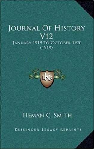 Journal of History V12: January 1919 to October 1920 (1919)