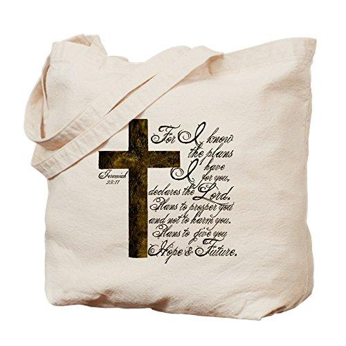 CafePress - Plan Of God Jeremiah 29:11 - Natural Canvas Tote Bag, Cloth Shopping Bag