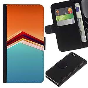 For Apple Apple iPhone 6(4.7 inches),S-type® Pattern Orange Soothing Calm Pastel - Dibujo PU billetera de cuero Funda Case Caso de la piel de la bolsa protectora