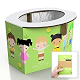 Zensuno Emergency Foldable Portable Disposable Hygienic Instant Potty for Kids Toddlers Small Children and Babies, Great for Road Trip, Camping, Traveling, Hiking and Car Essential (1 Pack, Age 1-3): more info