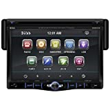 BOSS Audio BV8970B In-Dash Single-Din 7-inch Motorized Detachable Touchscreen DVD/CD/USB/SD/MP4/MP3 Player Receiver Bluetooth Streaming Bluetooth Hands-free with Remote