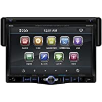 BOSS Audio BV8970B Single Din, Touchscreen, Bluetooth, DVD/CD/MP3/USB/SD AM/FM Car Stereo, 7 Inch Digital LCD Monitor, Detachable Front Panel, Wireless Remote, Multi-Color Illumination