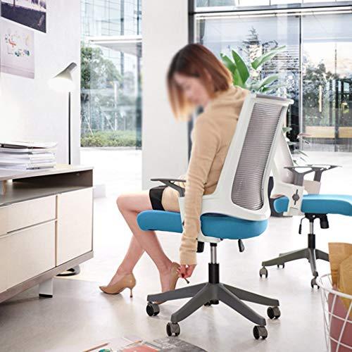 Högrygg kontorsstol verkställande nät dator skrivbordsstolar förtjockad kudde och sittdyna, höjdjustering, 360 graders rotation