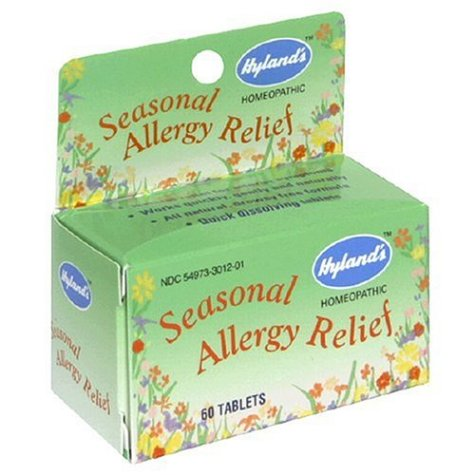 Hyland's Seasonal Allergy Relief, 60 Tablets (Pack of 4)