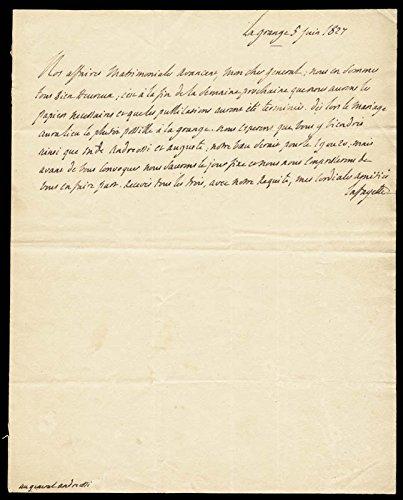 Marquis Gilbert Du Motier De Lafayette Autograph Letter Signed 06/05/1827