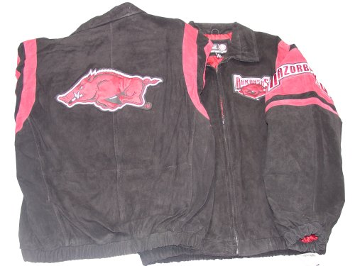 Arkansas Razorbacks NCAA G-III Leather Suede Jacket, X-Large