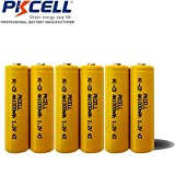 6 Pack AA 1.2V NiCd NiCad 1000mAh Rechargeable Batteries Button Top for Solar/Garden Lights
