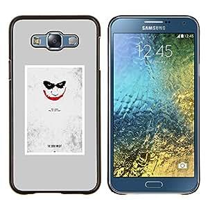EJOOY---Cubierta de la caja de protección para la piel dura ** Samsung Galaxy E7 E700 ** --Scary Face Sonrisa espeluznante del cartel