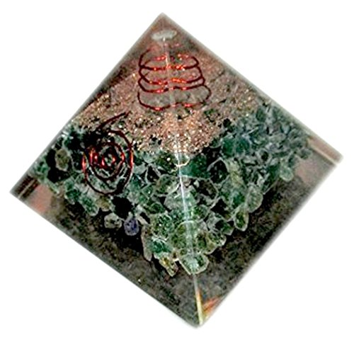 Healing Crystals India New Green Aventurine Chakra Orgone Pyramid, Green -