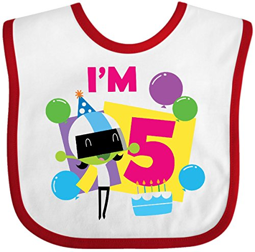 inktastic Im 5 with Dee and Balloons Baby T-Shirt PBS Kids