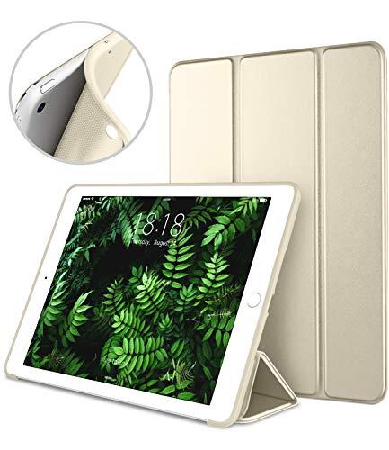 iPad Mini Case for iPad Mini 3/2 / 1, DTTO Ultra Slim Lightweight Smart Case Trifold Cover Stand with Flexible Soft TPU Back Cover for iPad Apple Mini, Mini 2, Mini 3 [Auto Sleep/Wake](Gold)