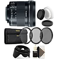 Canon EF-S 10-18mm f/4.5-5.6 IS STM Lens with Lens Filter and Accessories