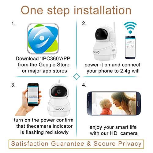 YIMODO WiFi IP Camera 1080P Wireless Security Camera